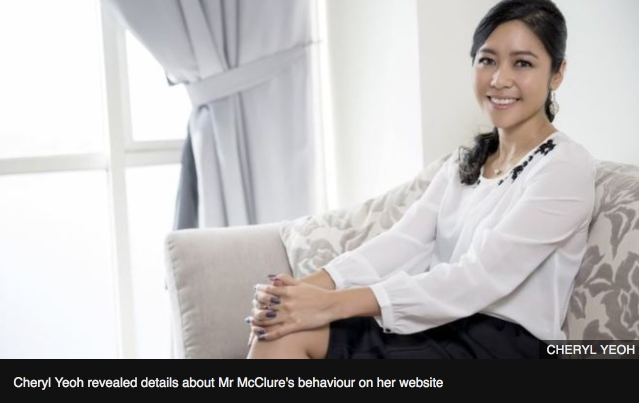 BBC News: Cheryl Yeoh: 'It was sexual harassment at the highest level'