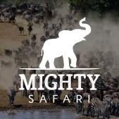 Mighty Safari Logo - Zebras